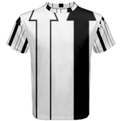 Funny Black and White Stripes Diamonds Arrows Men s Cotton Tee
