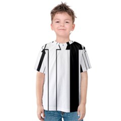 Funny Black and White Stripes Diamonds Arrows Kid s Cotton Tee