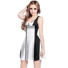 Funny Black and White Stripes Diamonds Arrows Reversible Sleeveless Dress
