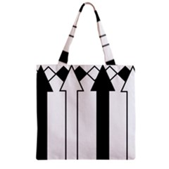 Funny Black and White Stripes Diamonds Arrows Grocery Tote Bag