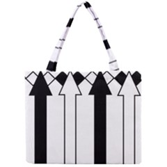 Funny Black and White Stripes Diamonds Arrows Mini Tote Bag
