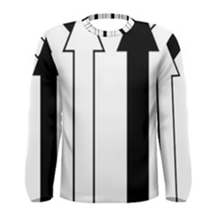 Funny Black and White Stripes Diamonds Arrows Men s Long Sleeve Tee