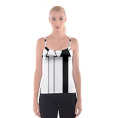 Funny Black and White Stripes Diamonds Arrows Spaghetti Strap Top
