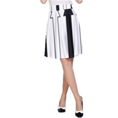 Funny Black and White Stripes Diamonds Arrows A-Line Skirt