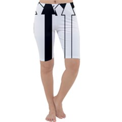 Funny Black and White Stripes Diamonds Arrows Cropped Leggings
