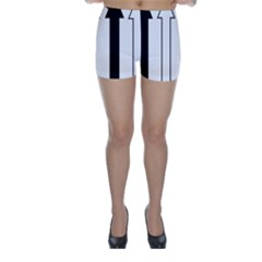 Funny Black and White Stripes Diamonds Arrows Skinny Shorts
