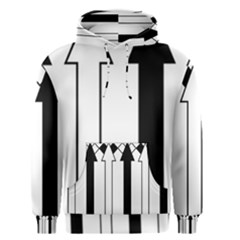 Funny Black and White Stripes Diamonds Arrows Men s Pullover Hoodie