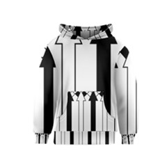 Funny Black and White Stripes Diamonds Arrows Kids  Pullover Hoodie