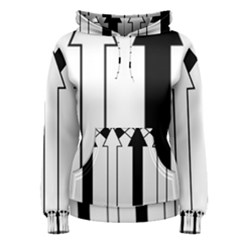 Funny Black and White Stripes Diamonds Arrows Women s Pullover Hoodie