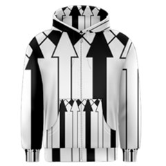 Funny Black and White Stripes Diamonds Arrows Men s Zipper Hoodie