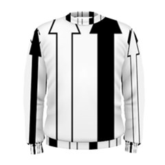 Funny Black and White Stripes Diamonds Arrows Men s Sweatshirt