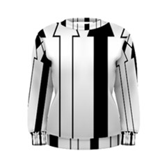 Funny Black and White Stripes Diamonds Arrows Women s Sweatshirt