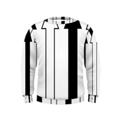 Funny Black and White Stripes Diamonds Arrows Kids  Sweatshirt