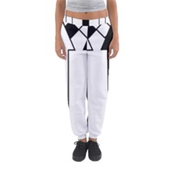 Funny Black and White Stripes Diamonds Arrows Women s Jogger Sweatpants