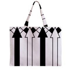 Funny Black and White Stripes Diamonds Arrows Zipper Mini Tote Bag