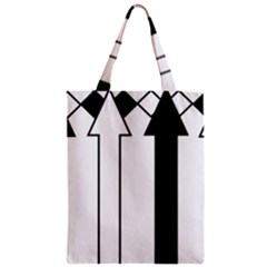Funny Black and White Stripes Diamonds Arrows Zipper Classic Tote Bag
