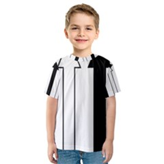 Funny Black and White Stripes Diamonds Arrows Kid s Sport Mesh Tee