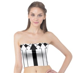 Funny Black and White Stripes Diamonds Arrows Tube Top