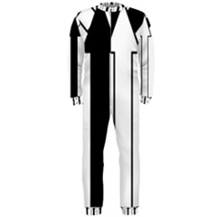 Funny Black and White Stripes Diamonds Arrows OnePiece Jumpsuit (Men)