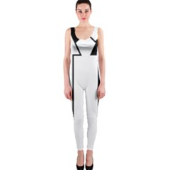 Funny Black and White Stripes Diamonds Arrows OnePiece Catsuit