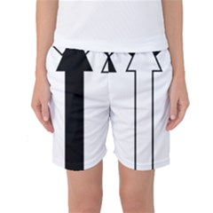 Funny Black and White Stripes Diamonds Arrows Women s Basketball Shorts