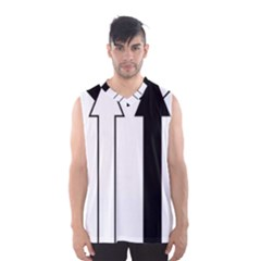 Funny Black and White Stripes Diamonds Arrows Men s Basketball Tank Top