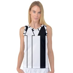 Funny Black and White Stripes Diamonds Arrows Women s Basketball Tank Top