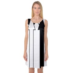 Funny Black and White Stripes Diamonds Arrows Sleeveless Satin Nightdress