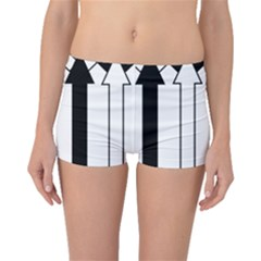 Funny Black and White Stripes Diamonds Arrows Boyleg Bikini Bottoms
