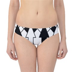 Funny Black and White Stripes Diamonds Arrows Hipster Bikini Bottoms