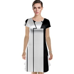 Funny Black and White Stripes Diamonds Arrows Cap Sleeve Nightdress