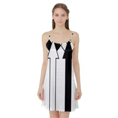 Funny Black and White Stripes Diamonds Arrows Satin Night Slip