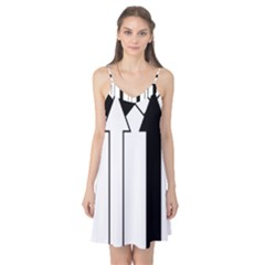 Funny Black and White Stripes Diamonds Arrows Camis Nightgown