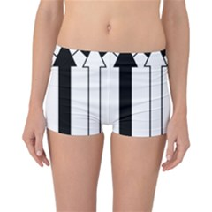 Funny Black and White Stripes Diamonds Arrows Reversible Boyleg Bikini Bottoms