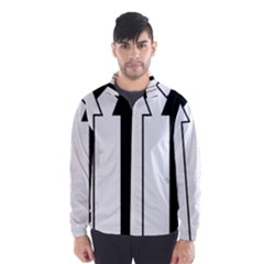 Funny Black and White Stripes Diamonds Arrows Wind Breaker (Men)