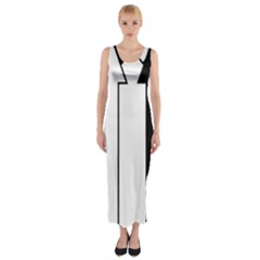 Funny Black and White Stripes Diamonds Arrows Fitted Maxi Dress