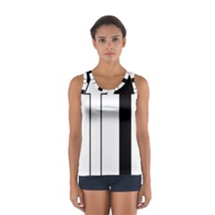 Funny Black and White Stripes Diamonds Arrows Tops