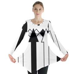 Funny Black and White Stripes Diamonds Arrows Long Sleeve Tunic