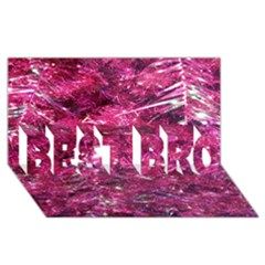 Festive Hot Pink Glitter Merry Christmas Tree  Best Bro 3d Greeting Card (8x4)  by yoursparklingshop