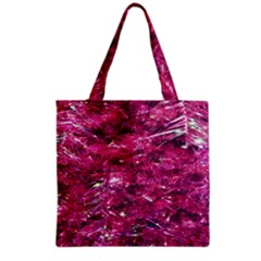Festive Hot Pink Glitter Merry Christmas Tree  Grocery Tote Bag by yoursparklingshop
