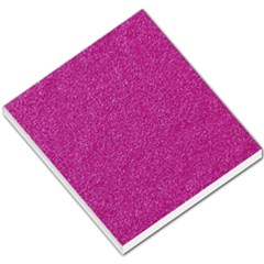 Metallic Pink Glitter Texture Small Memo Pads by yoursparklingshop