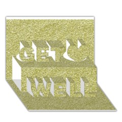 Festive White Gold Glitter Texture Get Well 3d Greeting Card (7x5)  by yoursparklingshop