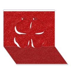 Festive Red Glitter Texture Clover 3d Greeting Card (7x5)  by yoursparklingshop