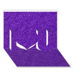 Festive Purple Glitter Texture I Love You 3d Greeting Card (7x5)  by yoursparklingshop