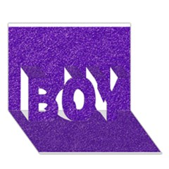 Festive Purple Glitter Texture Boy 3d Greeting Card (7x5) by yoursparklingshop
