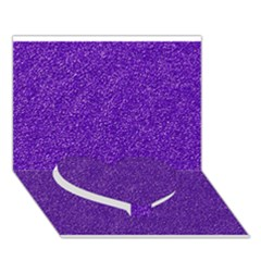 Festive Purple Glitter Texture Heart Bottom 3d Greeting Card (7x5)  by yoursparklingshop