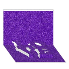 Festive Purple Glitter Texture Love Bottom 3d Greeting Card (7x5)