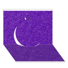 Festive Purple Glitter Texture Circle 3d Greeting Card (7x5)  by yoursparklingshop