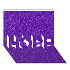 Festive Purple Glitter Texture Hope 3d Greeting Card (7x5)  by yoursparklingshop
