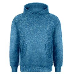 Festive Blue Glitter Texture Men s Pullover Hoodie by yoursparklingshop